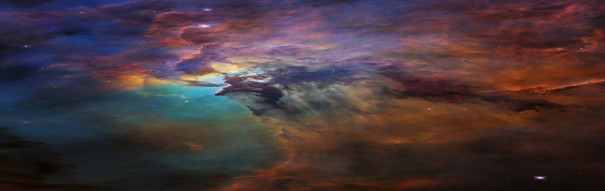 Hubble Lagoon Nebula visible light view 1900x600 crop.